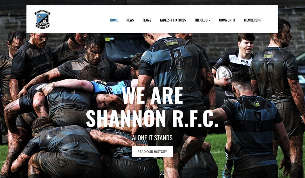 New Rugby Website Shannon RFC